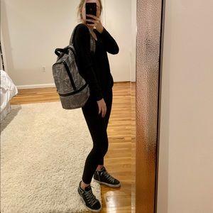Lululemon black and white backpack
